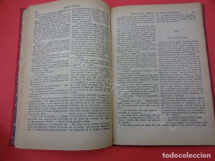 Libros antiguos: VEINTE MIL LEGUAS DE VIAJE SUBMARINO. Julio Verne. SOPENA - Foto 4 - 217477942