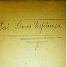 Libros antiguos: GEOMETRÍA, PROPIEDAD DE JOSE FLORES ESPINOSA, DIRECTOR SOCIEDAD BÍBLICA ESPAÑOLA. Lote 217690860