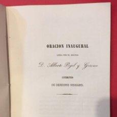 Libros antiguos: UNIVERSIDAD LITERARIA DE BARCELONA ORACION DE ALBERTO PUJOL Y GURENA 1846. Lote 217805750
