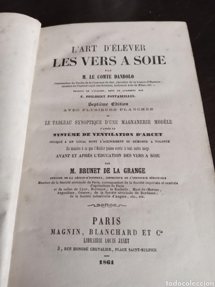 Libros antiguos: LES VERS A SOIE - Foto 5 - 217815092