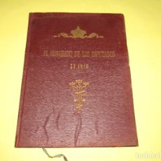 Libros antiguos: ANTIGUO EL CONGRESO DE LOS DIPUTADOS EN 1916 CON S.M. EL REY DON ALFONSO XIII. Lote 217816916