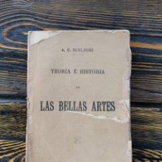 Libros antiguos: TEORÍA E HISTORIA DE LAS BELLAS ARTES - SCHLEGEL. Lote 217844266