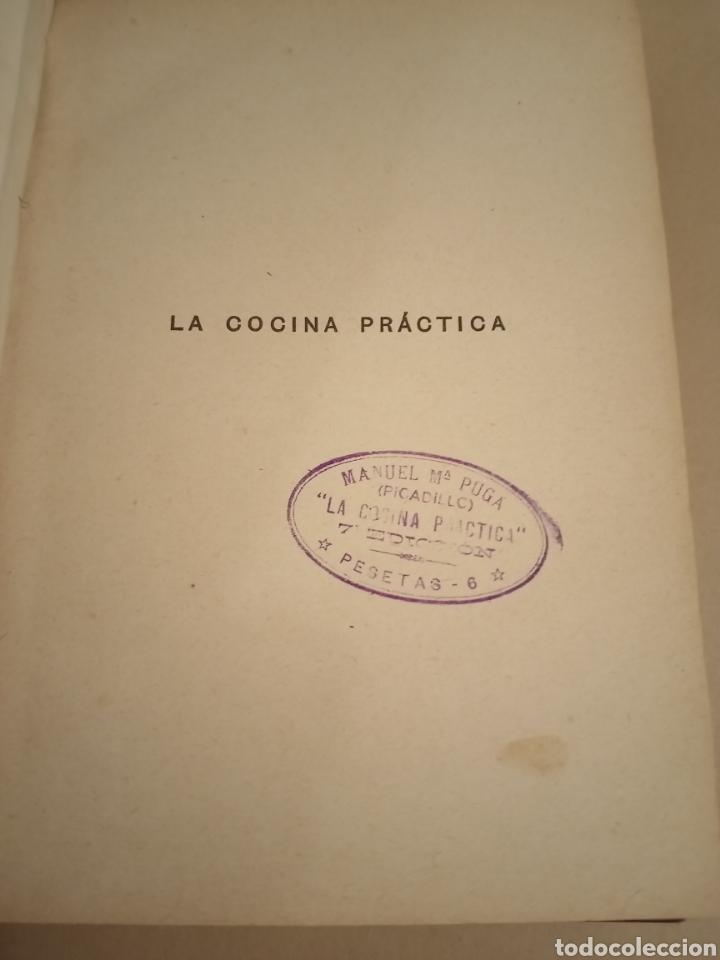 Libros antiguos: La Cocina práctica por Picadillo Ed 1916 séptima edición - Foto 2 - 217937118