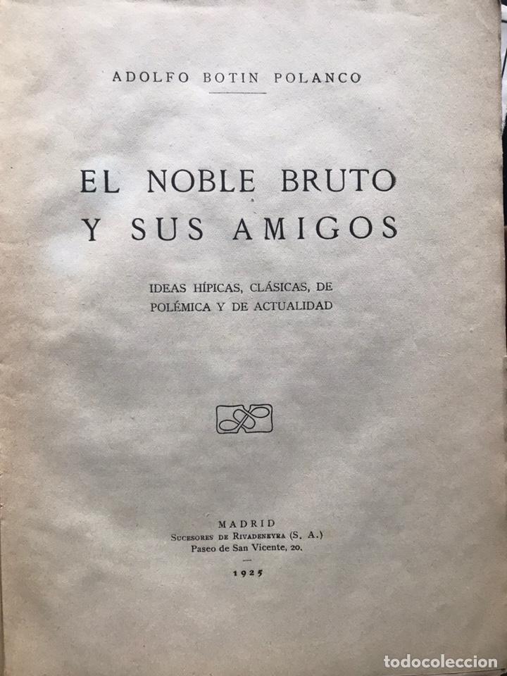 Libros antiguos: El noble bruto y sus amigos por Adolfo botín Polanco 1925 primera edición hipica - Foto 3 - 217980846