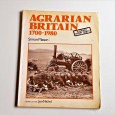 Libros antiguos: LIBRO AGRARIAN BRITAIN 1700-1980 - 22 X 27.CM. Lote 218050330