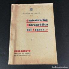 Livros antigos: PUBLICACIONES DE LA CONFEDERACIÓN HIDROGRÁFICA DEL SEGURA 1938. Lote 218061497