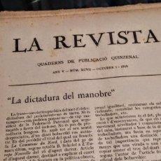 Libros antiguos: 79 EJEMPLARES DE LA REVISTA. EDITADA EN BARCELONA ENTRE LOS AÑOS 1915 Y 1936.. Lote 212234438