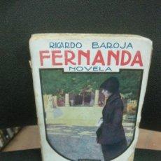 Libros antiguos: RICARDO BAROJA. FERNANDA. RAFAEL CARO RAGGIO EDITOR MADRID. 1ªED. 1920.. Lote 218179932
