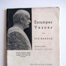 Livros antigos: RARISIMO ESTAMPAS VASCAS POR PIO BAROJA. HOMENAJE EN DONOSTIA-SAN SEBASTIÁN. 1935 DEFECTO. Lote 218211855