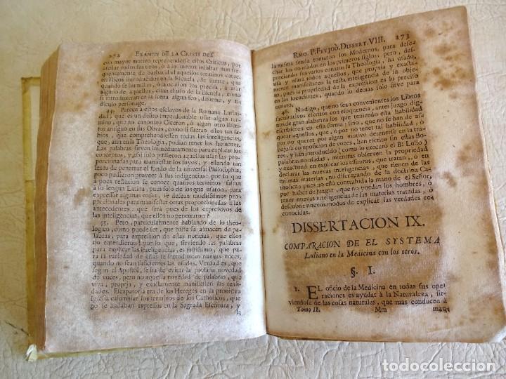 Libros antiguos: libro examen de la crisis maestro benito geronimo feijoo arte luliana año 1749 2 ramon llull - Foto 13 - 218285700