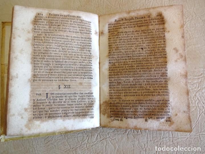 Libros antiguos: libro examen de la crisis maestro benito geronimo feijoo arte luliana año 1749 2 ramon llull - Foto 18 - 218285700