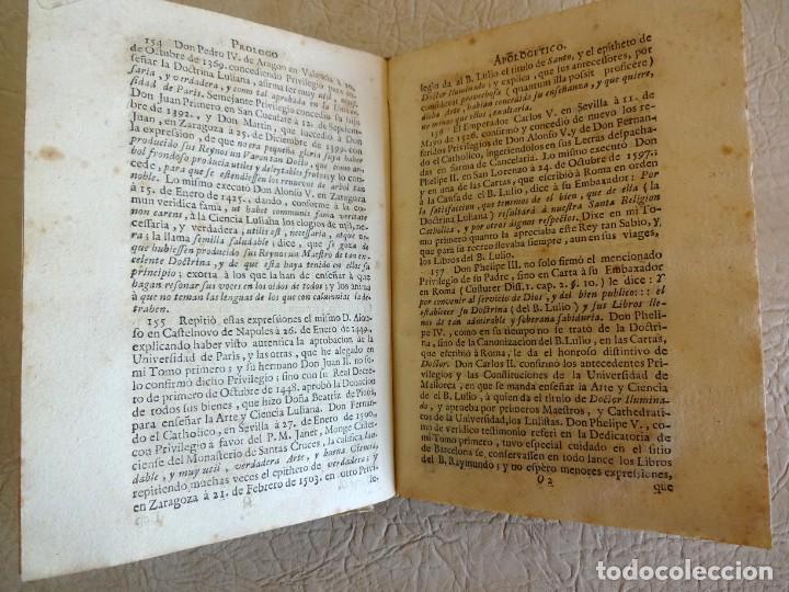 Libros antiguos: libro examen de la crisis maestro benito geronimo feijoo arte luliana año 1749 2 ramon llull - Foto 21 - 218285700