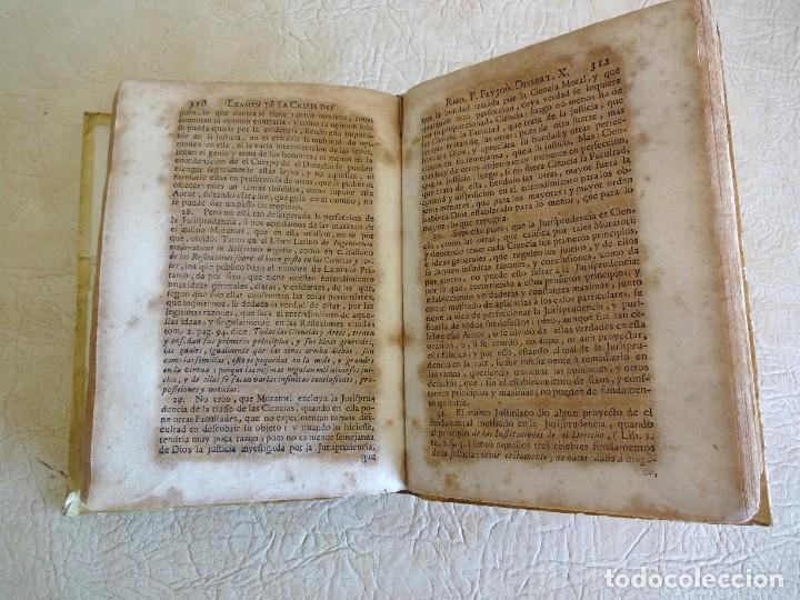 Libros antiguos: libro examen de la crisis maestro benito geronimo feijoo arte luliana año 1749 2 ramon llull - Foto 23 - 218285700