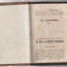 Libros antiguos: FR.GERUNDIO-3 DE MARZO DE 1840- X TOMO. Lote 218412755