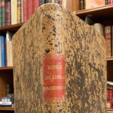 Libros antiguos: INDEX LIBRORUM PROHIBITORUM SSMMI D.N. LEONIS XIII. Lote 218420842