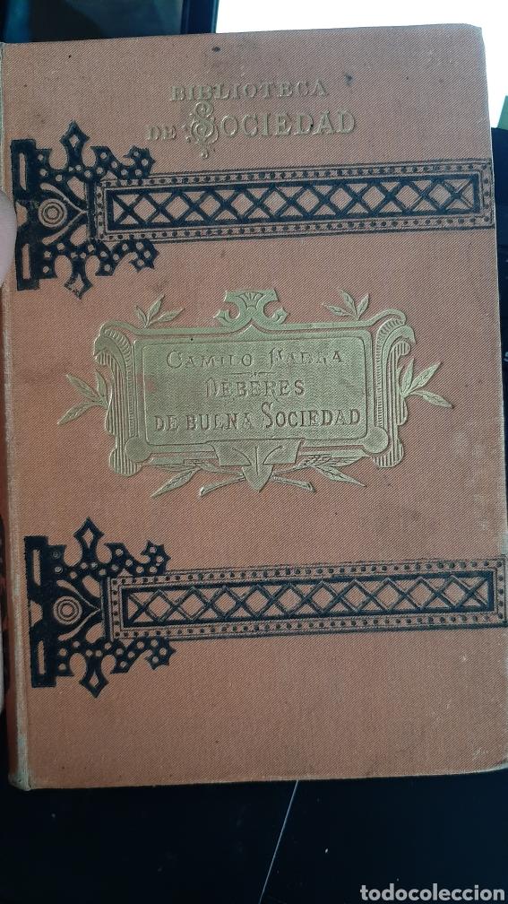 1883 - CÓDIGO Ó DEBERES DE BUENA SOCIEDAD - CAMILO FABRA - BIBLIOTECA DE SOCIEDAD - SIGLO XIX (Libros Antiguos, Raros y Curiosos - Ciencias, Manuales y Oficios - Otros)