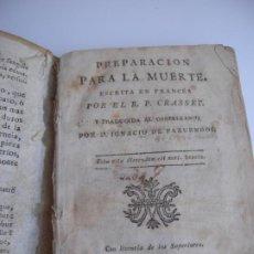 Libros antiguos: PREPARACION PARA LA MUERTE - CRASSET. Lote 218530635