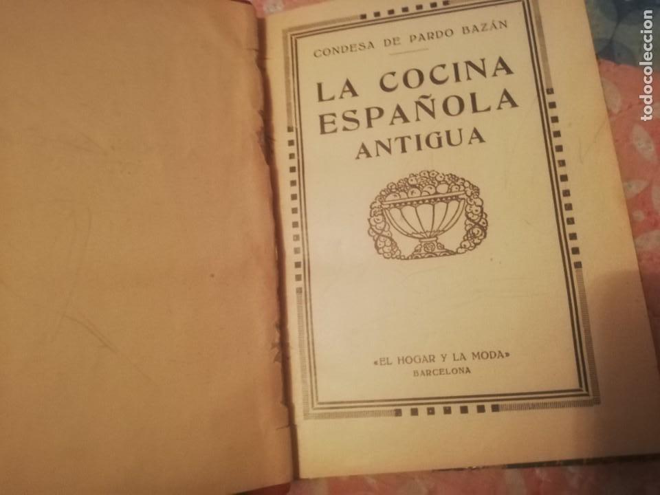 LIBRO DE COCÍNA CONDESA DE PARDO BAZAN (Libros Antiguos, Raros y Curiosos - Cocina y Gastronomía)