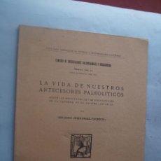 Libros antiguos: LA VIDA DE NUESTROS ANTECESORES PALEOLITICOS. CAVERNA DE LA PALOMA. ASTURIAS. 1923. Lote 218760122