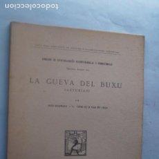 Livres anciens: LA CUEVA DEL BUXU. HUGO OBERMAIER Y CONDE DE LA VEGA DEL SELLA. 1918. Lote 218760336