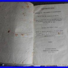 Libros antiguos: LIBRO INSTRUCCION SOBE EL REGIMEN Y GOBIERNO DE LA CRIA DE CABALLOS AÑO 1826. Lote 218792851