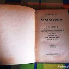 Livres anciens: FORMULARIO DE COCINA ARREGLADA POR UN JEREZANO QUE NUNCA HA SIDO COCINERO. Lote 218895022