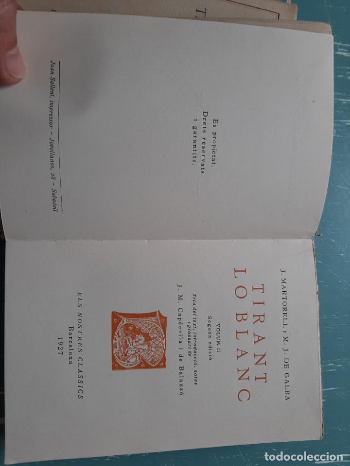 Libros antiguos: Tirant lo blanc/ vol. 2,3,4,5 ... ed.barcino Barcelona, 1927-29 - Foto 12 - 218896830