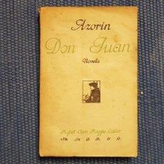 Libros antiguos: AZORÍN: DON JUAN. Lote 218977777