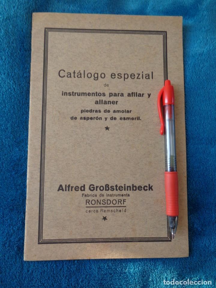 CATALOGO DE MAQUINAS PARA AFILAR...EN ESPAÑOL - AÑOS 20/30 (Libros Antiguos, Raros y Curiosos - Ciencias, Manuales y Oficios - Otros)