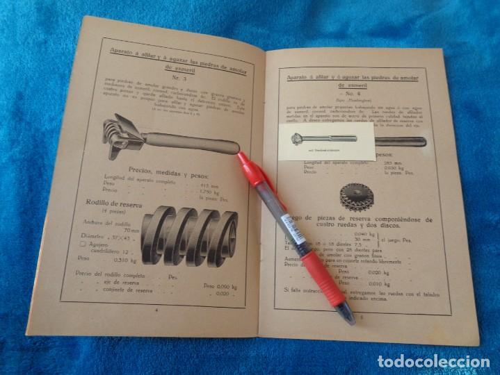 Libros antiguos: CATALOGO DE MAQUINAS PARA AFILAR...EN ESPAÑOL - años 20/30 - Foto 4 - 219230185