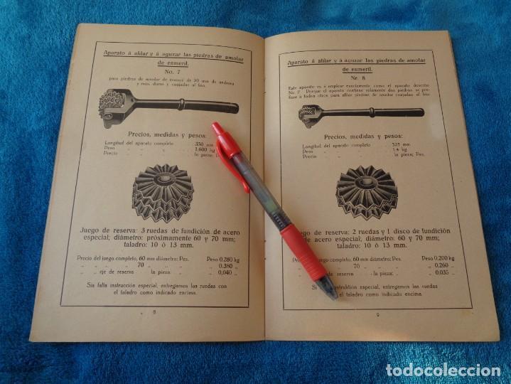 Libros antiguos: CATALOGO DE MAQUINAS PARA AFILAR...EN ESPAÑOL - años 20/30 - Foto 8 - 219230185