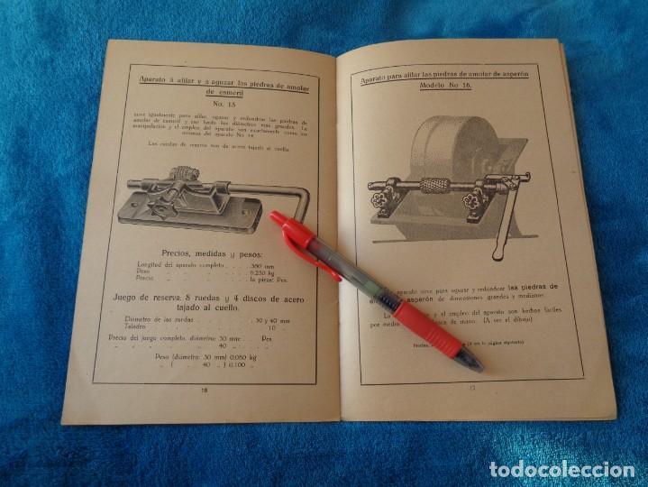 Libros antiguos: CATALOGO DE MAQUINAS PARA AFILAR...EN ESPAÑOL - años 20/30 - Foto 12 - 219230185
