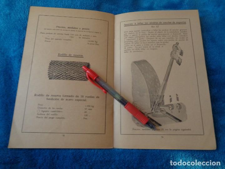 Libros antiguos: CATALOGO DE MAQUINAS PARA AFILAR...EN ESPAÑOL - años 20/30 - Foto 13 - 219230185