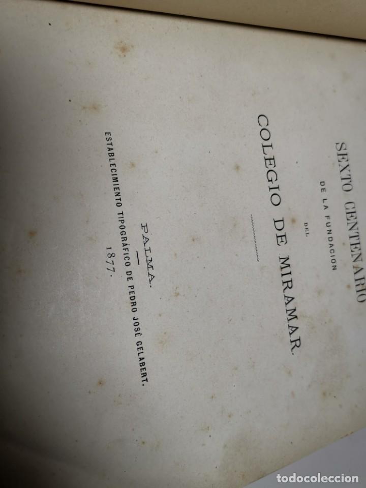 Libros antiguos: HOMENAGE AL BEATO RAIMUNDO LULL EN EL SEXTO CENTENARIO DE LA FUNDACION DEL COLEGIO MIRAMAR - 1877 - Foto 17 - 219275426