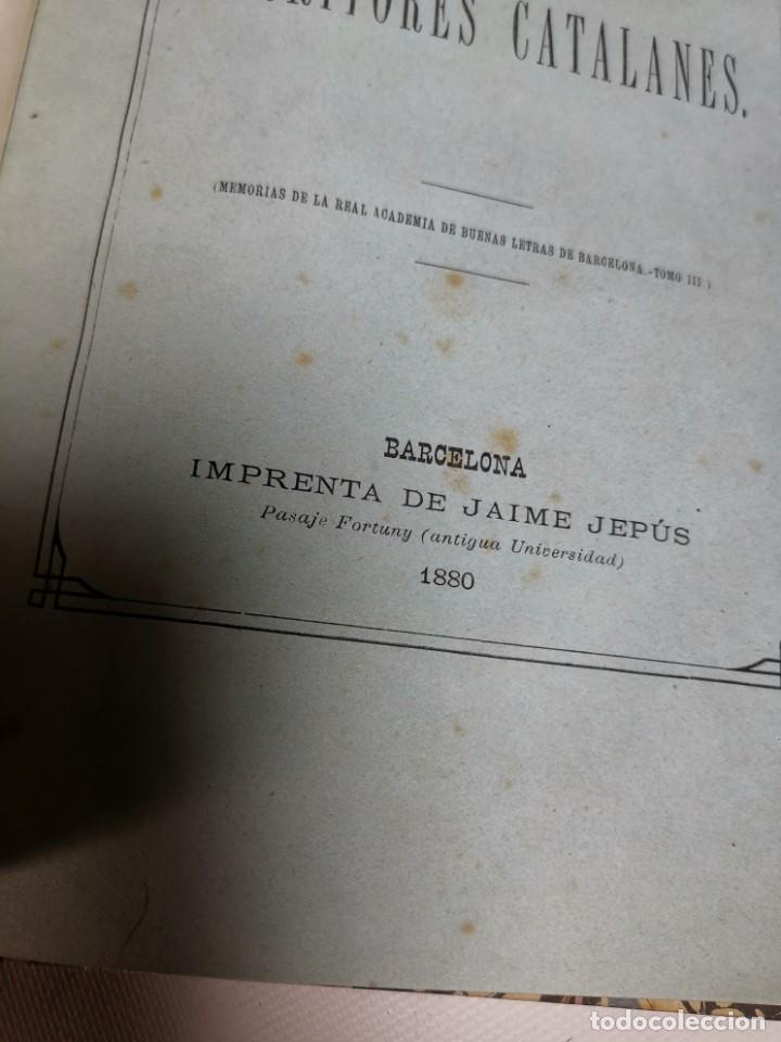 Libros antiguos: UN LIBRO MAS PARA EL CATALOGO DE ESCRITORES CATALANES -BARCELONA 1880- - Foto 9 - 219303600