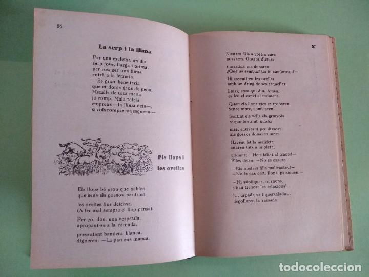 Libros antiguos: Faules de lantigor. LLIBRE DE LESCOLA I DE LA LLAR PER J. VILALTA ROCA. IMP. F CAMPS. 1935 TARREGA - Foto 3 - 219304853