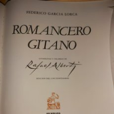 Livros antigos: ROMANCERO GITANO, RESERVADO NO COMPRAR. Lote 219334202