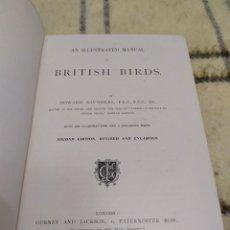 Libros antiguos: 1899. MANUAL ILUSTRADO DE PÁJAROS BRITÁNICOS. HOWARD SAUNDERS.. Lote 219358598