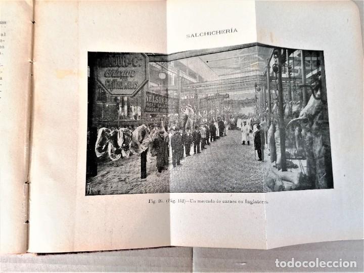 Libros antiguos: LIBRO MMANUAL DE SALCHICHERIA,AÑO 1906,MATANZA DEL CERDO,FABRICACION..DIBUJOS HORRIBLES DE SU MUERTE - Foto 4 - 219365752