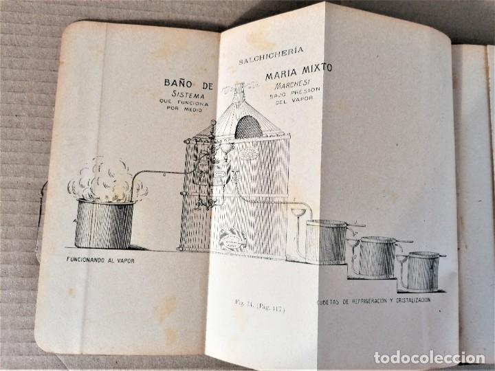 Libros antiguos: LIBRO MMANUAL DE SALCHICHERIA,AÑO 1906,MATANZA DEL CERDO,FABRICACION..DIBUJOS HORRIBLES DE SU MUERTE - Foto 6 - 219365752