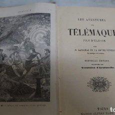 Libros antiguos: PRPM 80 LES AVENTURES DE TÉLÉMAQUE PAR FÉNELON. NUEVA EDICIÓN AUMENTADA. PARÍS AÑO 1900. Lote 219438653