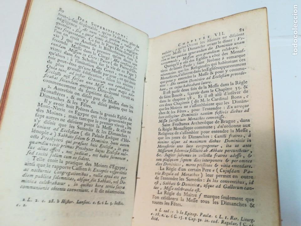 Libros antiguos: M. JEAN-BAPTISTE THIERS Traté des superstitions qui regardent les sacraments Tomo III S943T - Foto 5 - 219638283