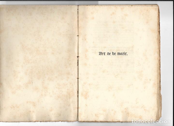 """""""ART DE BE MORIR"""" FACSÍMIL DEL AÑO 1905 (Libros Antiguos, Raros y Curiosos - Literatura - Otros)"""