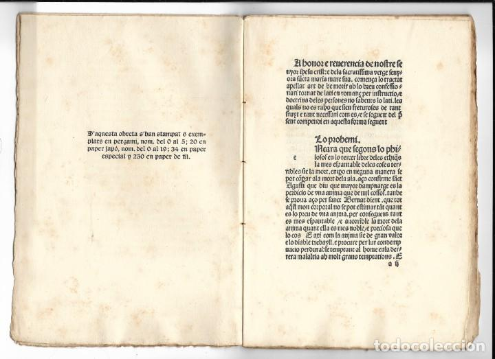 """Libros antiguos: """"Art de be morir"""" Facsímil del año 1905 - Foto 2 - 219652938"""