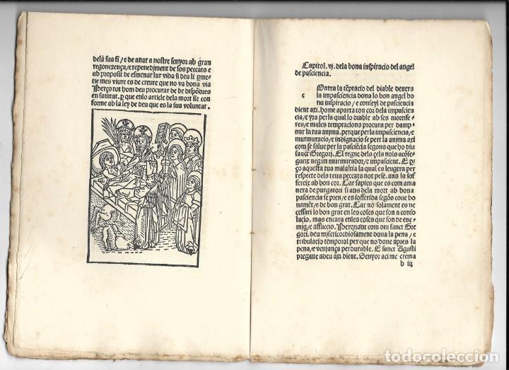 """Libros antiguos: """"Art de be morir"""" Facsímil del año 1905 - Foto 3 - 219652938"""