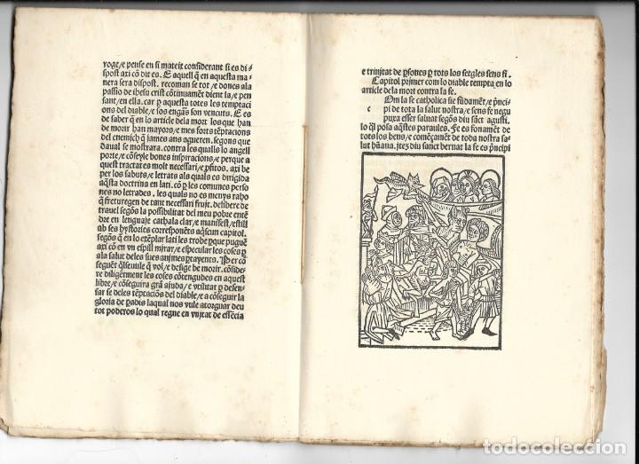 """Libros antiguos: """"Art de be morir"""" Facsímil del año 1905 - Foto 4 - 219652938"""