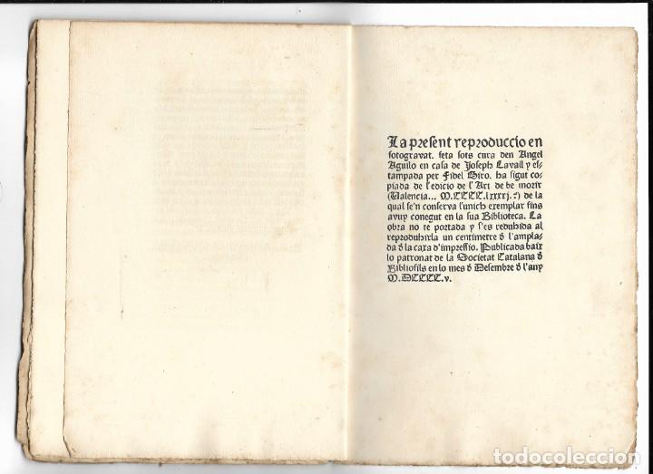 """Libros antiguos: """"Art de be morir"""" Facsímil del año 1905 - Foto 6 - 219652938"""