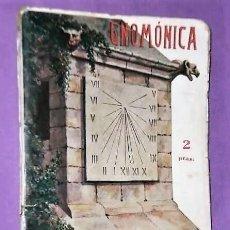 Libri antichi: GNOMONICA. ARTE DE CONSTRUIR RELOJES DE SOL. Lote 219672498