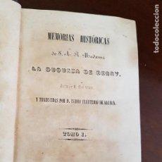 Libros antiguos: MEMORIAS DE S.A.R. LA DUQUESA DE BERRY - 1844. Lote 219704823