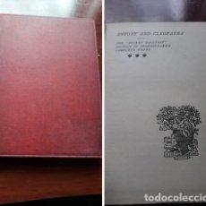 Libros antiguos: ANTONY AND CLEOPATRA LONDRES 1898.. Lote 220064322